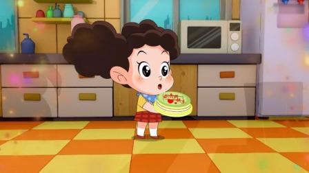 棉花糖和云朵妈妈:棉花糖自己做蛋糕,藏在微波炉里!