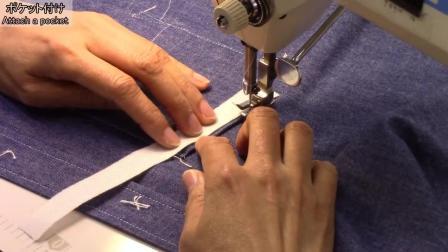 P3口袋和袖口制作-牛仔衬衫制作-日式制衣-一起来缝纫