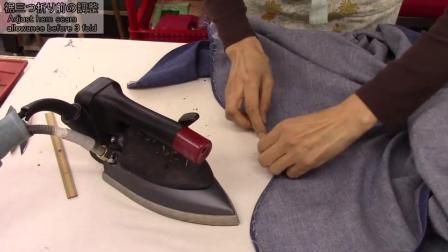P4袖肩拼接和底摆制作-牛仔衬衫制作-日式制衣-一起来缝纫