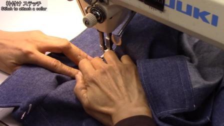 P6衣领缝合和缝扣-牛仔衬衫制作-日式制衣-一起来缝纫