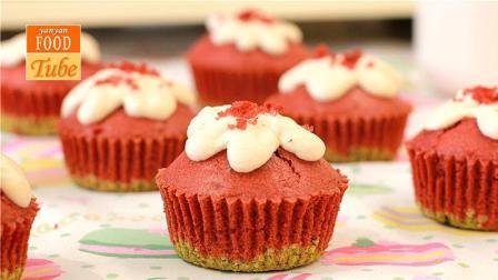 红丝绒流心玛芬蛋糕