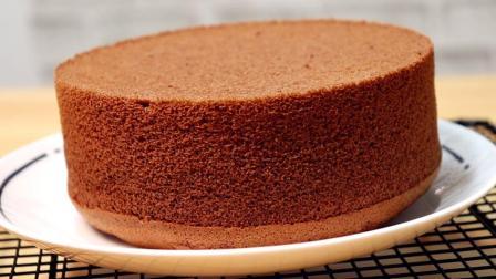懒人蛋糕做法, 3个鸡蛋, 在家就能做巧克力蛋糕, 比买的还好吃