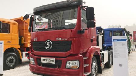 陕汽新M3000 6X4电动牵引车, 配12挡自动变速箱续航里程200km - 大轮毂汽车视频