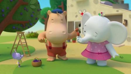 缇娜托尼:小老鼠种了一棵李子树,上面结了好多李子啊