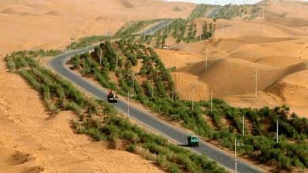 """惊艳全球! 中国在""""死亡之海""""建造436公里""""绿色长城"""", 宣战沙漠!"""
