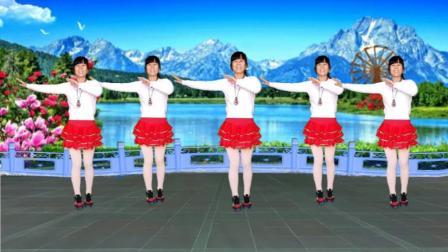 明阁广场舞《山不转水转》简单动感时尚32步