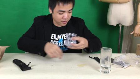 开箱测评超炫酷的杯子, 倒上水后效果惊呆了