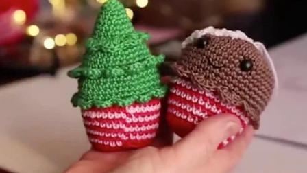 「玩偶针织」编织圣诞节的姜饼人