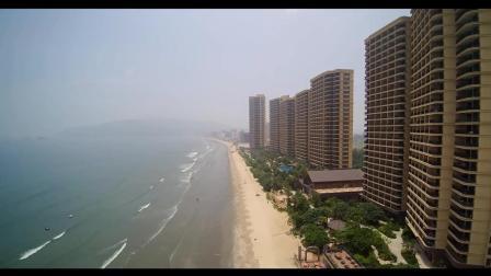 航拍带您看《惠州双月湾》海景洋房, 真不错。