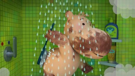 缇娜托尼把自己洗的干干净净,成功消灭了细菌