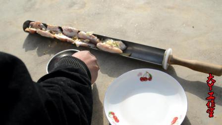 太阳能烤炉烤鸡翅, 自己做蒜香盐水鸡翅, 很香材料简单, 人人可做