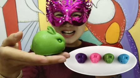"""妹子试吃""""3D兔子巧克力"""", 三瓣嘴短尾巴, 圆滚滚的好看又好吃"""
