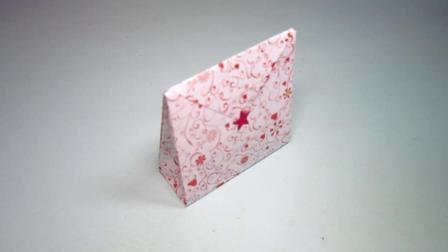 手工折纸, 迷你礼品袋的折法, 3分钟学会简单又漂亮