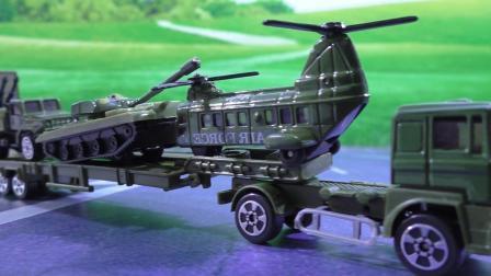 幼儿益智玩具 小宝贝一起认识吉普车军用卡车直升飞机坦克车模型