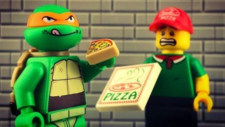 乐高定格动画: 乐高忍者制作披萨比赛, 遭遇重重阻碍挑战成功