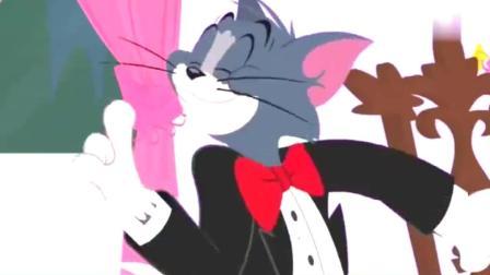 猫和老鼠: 汤姆约小女猫来吃烛光晚餐, 急躁的汤姆为了爱情差点把房子给烧了