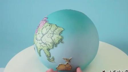 """风味人间: 牛人制作的""""地球仪""""蛋糕, 好逼真啊"""