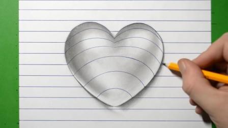 如何画一幅有立体效果的心形图? 这个方法很速成!