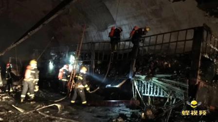 浙江金华 惊险! 高速隧道内一辆半挂车突然起火  消防奋战6小时扑灭