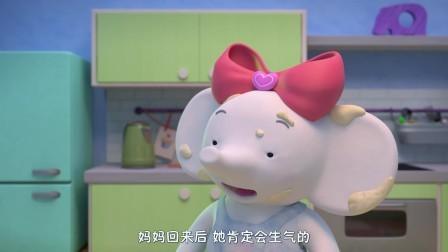 缇娜托尼体会到了当父母的辛苦,一起开心的去看动画片了