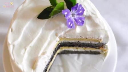 「烘焙教程」午后甜点—黑芝麻戚风奶油蛋糕