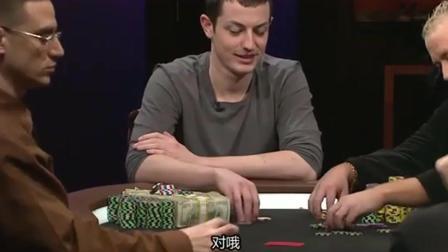 德州扑克三路底池牌型各异, ELE击中99过牌给拿AA的Peat下注