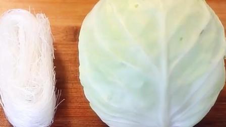 圆白菜拌粉丝加点小技巧, 粉丝特入味, 老人孩子都爱吃, 做法简单