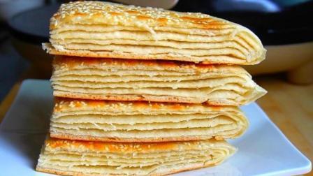 千层饼的家常做法, 掌握2个诀窍, 表皮酥脆又多层, 比买的还好吃