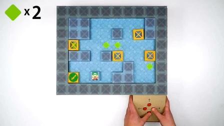 用纸板制作推箱子游戏机, 这动手能力不服不行!