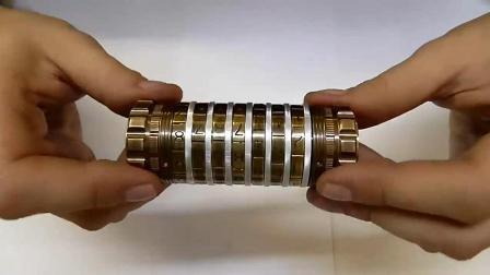 自制迷你金属保险箱, 体积很小巧, 密码组合有1000万种!
