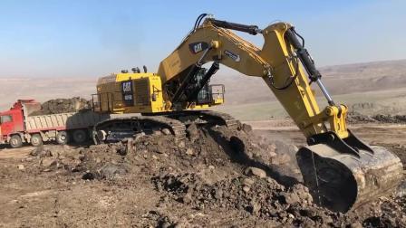 卡特挖掘机工作视频, 老司机开新挖掘机, 就是稳效率高!