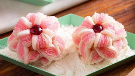 美食台 | 面团做出一朵花, 色香味全酥掉渣!