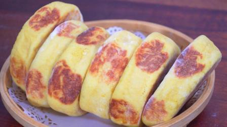 一块南瓜, 两个鸡蛋, 无水无油, 做法比馒头简单, 比面包松软好吃