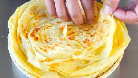 手抓饼最美味的做法, 层次丰富酥脆掉渣, 讲解详细一次成功