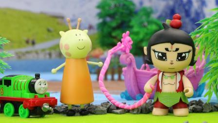 葫芦娃大娃今天在玩具小镇帮大家解决了很多难题, 他可真是一个大力士!