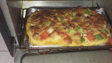 小媳妇教你在家做披萨味道堪比西餐厅 一人吃一个过瘾学会在家做