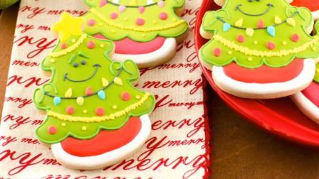 圣诞树糖霜饼干装饰教程, 香甜的饼干和漂亮的糖霜结合, 组合成完美的甜品