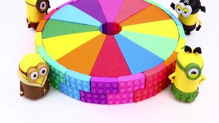 益智动画, 用太空沙制作彩虹圆形蛋糕