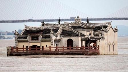 长江中的一道奇观: 观音阁屹立于江上700年不倒
