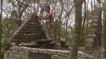 原始技术两兄弟, 野外生存, 建造罗马房子(五).