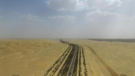 """厉害了! 中国在沙漠中修建出""""绿色长城"""", 外媒"""