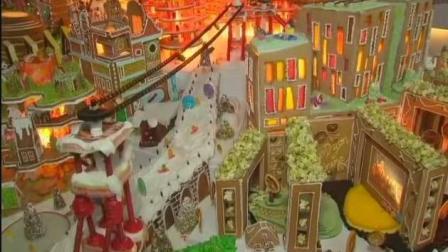 圣诞姜饼制作的未来城市在伦敦大不列颠博物馆展出, 你舍得吃么