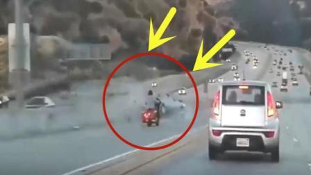 """快速道路上突然发生一起连环车祸, 调看监控才得知""""罪魁祸首""""是他"""