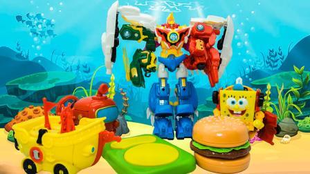 神兽金刚4差点把海绵宝宝当汉堡包给吃了