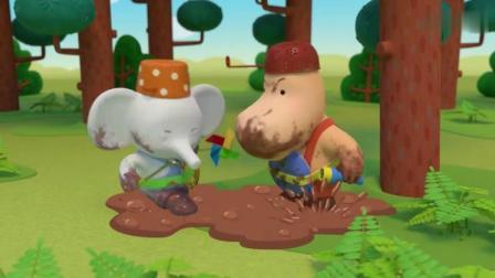 缇娜托尼:缇娜和托尼以为细菌在泥坑里,他们在泥坑里踩来踩去!