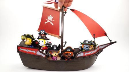 好奇怪! 汪汪队狗狗们在海盗船上做什么? 在执行什么任务? 玩具故事