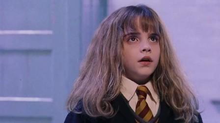 《哈利·波特与魔法石》地下室智斗山怪,赫敏巧用漂浮咒
