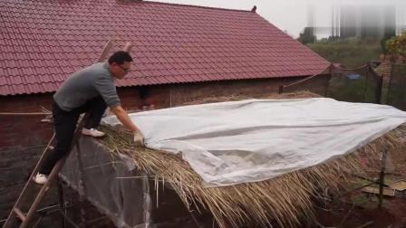 农村人养鸡不容易, 注意通风保暖很重, 小伙想尽各种办法
