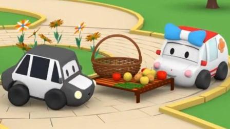 萌车总动员: 迷你车们卖水果和果汁筹钱买杯子蛋糕