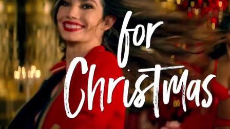 """维密超模cos圣诞""""姐姐"""", 红色内衣太性感"""